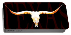 Texas Longhorns By Sharon Cummings Portable Battery Charger