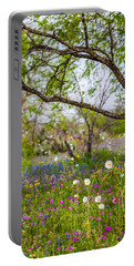 Texas Roadside Wildflowers 732 Portable Battery Charger by Melinda Ledsome