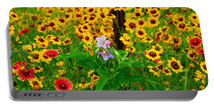 Texas Spring Delight Portable Battery Charger