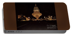 Portable Battery Charger featuring the photograph Texas State Capital by John Telfer