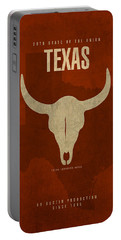 Texas State Facts Minimalist Movie Poster Art  Portable Battery Charger