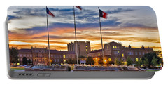 Portable Battery Charger featuring the photograph Memorial Circle At Sunset by Mae Wertz