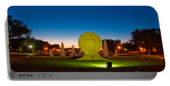 Portable Battery Charger featuring the photograph Texas Tech Seal At Night by Mae Wertz