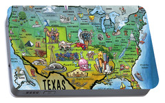 Portable Battery Charger featuring the painting Texas Usa by Kevin Middleton