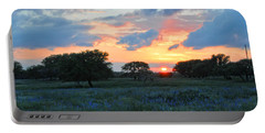 Texas Wildflower Sunset  Portable Battery Charger