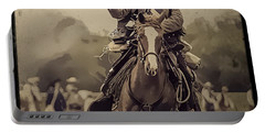 Texican Cavalry Portable Battery Charger by Kim Henderson