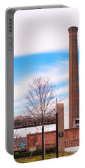 Portable Battery Charger featuring the photograph Historical Textile Mill Smoke Stack In Columbus Ga by Vizual Studio