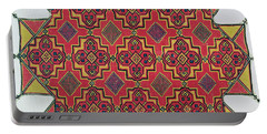 Textile With Geometric Pattern Portable Battery Charger