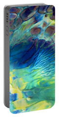 Textured Abstract 5 Portable Battery Charger
