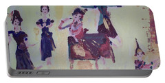 Thai Dance Portable Battery Charger by Judith Desrosiers