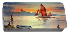Thames Barge At Maldon Essex Portable Battery Charger