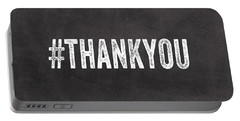 Thank You- Greeting Card Portable Battery Charger by Linda Woods