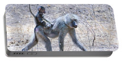 Thanks For The Ride Olive Baboon Portable Battery Charger