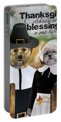 Thanksgiving From The Dogs Portable Battery Charger