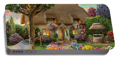 Thatched Cottage Portable Battery Charger by Adrian Chesterman