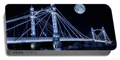 The Albert Bridge And The Moon Portable Battery Charger