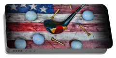 The All American Golfer Portable Battery Charger by Paul Ward