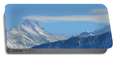 The Alps In Azure Portable Battery Charger by Felicia Tica