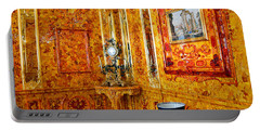 The Amber Room At Catherine Palace Portable Battery Charger by Catherine Sherman
