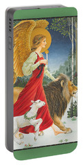 The Angel The Lion And The Lamb Portable Battery Charger