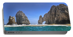 Portable Battery Charger featuring the photograph The Arch  Cabo San Lucas On A Low Tide by Eti Reid
