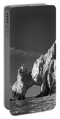 The Arch In Black And White Portable Battery Charger