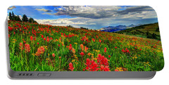 The Art Of Wildflowers Portable Battery Charger