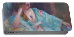 Inner Light - Original Impressionist Painting Portable Battery Charger