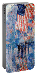 The Avenue In The Rain Portable Battery Charger