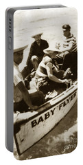 The Baby Flyer With Ed Ricketts And John Steinbeck  In Sea Of Cortez  1940 Portable Battery Charger
