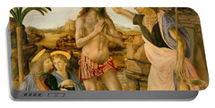 The Baptism Of Christ By John The Baptist Portable Battery Charger