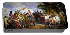 The Battle Of Bouvines Portable Battery Charger by Emile Jean Horace Vernet