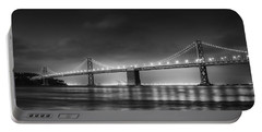 The Bay Bridge Monochrome Portable Battery Charger