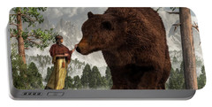 The Bear Woman Portable Battery Charger