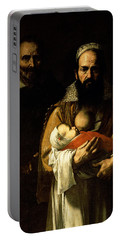 The Bearded Woman Breastfeeding, 1631 Portable Battery Charger
