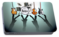 The Beatles Portable Battery Charger by Lena Day