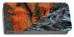 The Beauty Of Sandstone Zion Portable Battery Charger by Bob Christopher