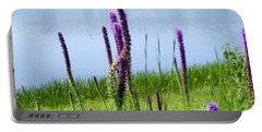 Portable Battery Charger featuring the photograph The Beauty Of The Liatris by Verana Stark