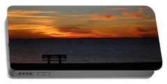 Portable Battery Charger featuring the photograph The Bench by Faith Williams