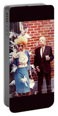 Portable Battery Charger featuring the photograph New Orleans The Birds And Alfred Hitchcock Mardi Gras Day In The French Quarter In Louisiana by Michael Hoard