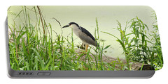 The Black-crowned Night Heron Portable Battery Charger by Verana Stark