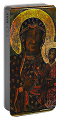 The Black Madonna Portable Battery Charger