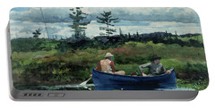 The Blue Boat Portable Battery Charger by Winslow Homer