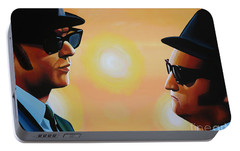The Blues Brothers Portable Battery Charger by Paul Meijering