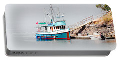 Portable Battery Charger featuring the photograph The Boat by Jim Thompson