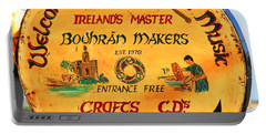 The Bodhran Makers Portable Battery Charger by Charlie and Norma Brock