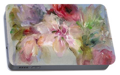 Portable Battery Charger featuring the painting The Bouquet by Mary Wolf