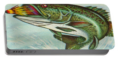 Portable Battery Charger featuring the digital art The Break by Cathy Anderson
