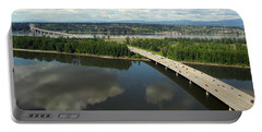 Oregon Bridge From Above Portable Battery Charger