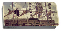 Portable Battery Charger featuring the photograph The Brighton Wheel by Chris Lord